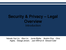 4P Security and privacy – legal overview