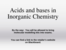 A lecture on Acids and Bases incorporating zapper questions