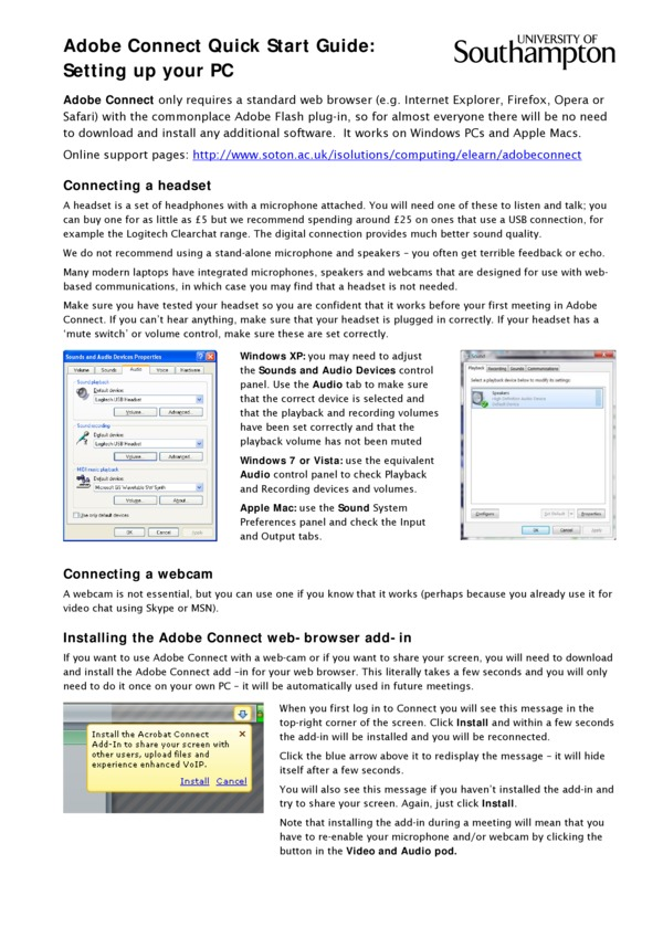 Browse by Tags: adobe connect - EdShare Southampton