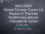 L6_Research themes, Quaternary glacial-interglacial records
